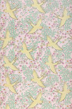0 yellow bird pattern on pink A_Marianella