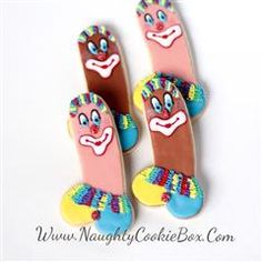 The Naughty Cookie Box | Delicious Treats with a Naughty Twist! Clown Penis Cookies. www.NaughtyCookieBox.Com Hahahaha!!!! Clowns!!! As a Penis!!!! Hahahahaha!! These clown penis cookies are a hysterical addition to any adult party!