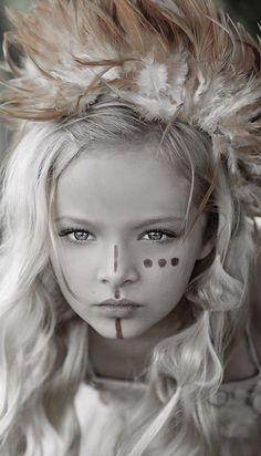 Face Paint - ceremonial or war paint Maquillage Halloween, Halloween Makeup, Pintura Tribal, Warrior Makeup, Tribal Makeup, Festival Makeup, Lost Girl, Photographing Kids, War Paint
