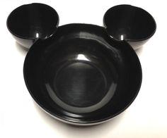 Zak Designs Mickey Mouse Plastic Chip DIP Salsa Snack Serving Bowls Black | eBay
