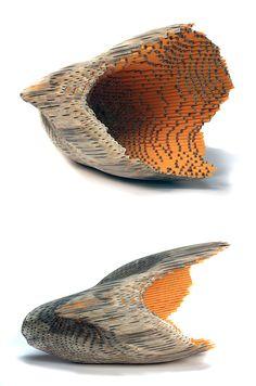 Pencil Sculptures by Jessica Drenk | Inspiration Grid | Design Inspiration