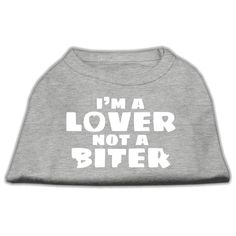 Mirage Pet Products 12-Inch I'm a Lover Not a Biter Screen Printed Dog Shirts, Medium, Grey >>> Check this awesome image  : Dog Shirts
