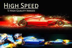 Formula One car  with light effect by iLexx on @creativemarket