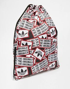 Buy adidas Originals Patch Gymsack at ASOS. Get the latest trends with ASOS now. Adidas Originals, The Originals, Vera Bradley Backpack, Sportswear, Asos, Patches, Bag, Fashion, Moda