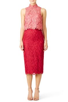 Rent Sweetheart Colorblock Sheath by ML Monique Lhuillier for $85 only at Rent the Runway.