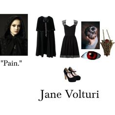 Jane Volturi- Twilight New Moon, Eclipse, Breaking Dawn part 2 by queenofbrooklynny on Polyvore featuring Lipsy and Yves Saint Laurent
