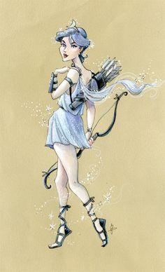 Jeff Davis Illustration: Greek Goddess ~ Artemis