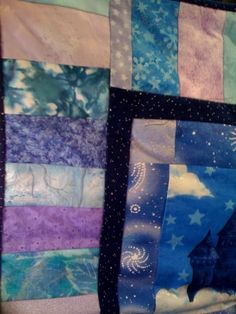 Harry Potter Baby Quilt: Keyboard boarder.