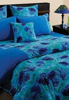 Bed In A Bag Blue Double Bedding Set (8 Pcs Set)