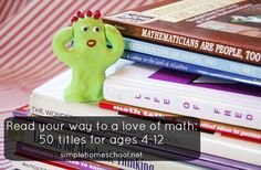 50 recommended math books to spark a love of math in ages 4-12