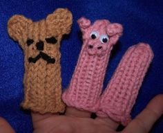 Loom Lore: This little piggy...a spool knitted finger puppet