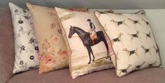 Country Inspired Cushions - hounds, horses, florals