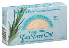 "Nature's Plus - Tea Tree Oil Cleansing Bar, 3.5 oz boxes by Nature's Plus. Save 1 Off!. $4.59. Does Not Contain: Animal Ingredients.. ""Nature's Plus Energizing Cleansing Bars are the perfect union of aromatherapeutic plant extracts and 100% pure and natural cleansing ingredients. Each invigorating bar excites the senses with a powerful arrray of plant and flower essential oils and essences, while gently purifying and maintaining the delicate moisture balance of the skin. Our Tea Tree..."