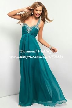 Empire Waist One Shoulder Chiffon Teal Prom Dress Long Open Back AU498 on AliExpress.com. 10% off $123.23