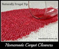 Homemade Carpet Cleaners and Carpet Stain Removers - including tips for getting red wine out of carpet