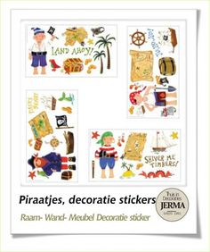 Roommates decoratiestickers. Piraat schatgravers kinderkamer decoratie stickers kinderkamer thema piraat klevers babykamer