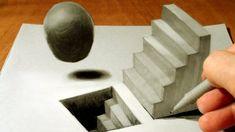 Anamorfik İllüzyon - 3D Merdiven Çizimi - 3D çizim teknikleri, örnekleri ve ipuçlarını videolu anlatımı - merdiven çizimi