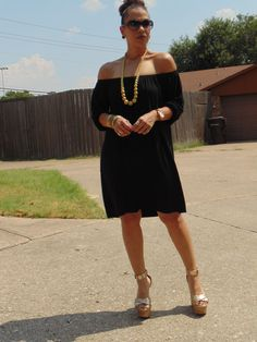 OOTD: Off The Shoulder Dress...Bye Summer! That's right Mad For Fashion Lovers, it is time to start saying our fair wells to #Summer!  To red more about this look visit www.facebook.com/MadForFashionForLess and get inspired!  #latinafashionblogger #latinafashiondiary #lookforless #outfitideas #FashionOver30 #StyleHunters #realoutfitgram #StilettoSociety #ShoeDazzleBA #SheInside #SheInsider
