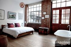 Great bedroom in a warehouse conversion