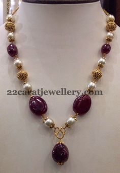 Jewellery Designs: 25gms Simple Beads Sets Gallery
