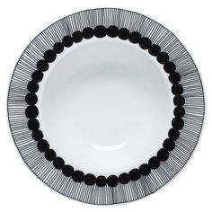 This Siirtolapuutarha deep plate is designed by Sami Ruotsalainen with Maija Louekari's for Marimekko. The distinctive radial design makes this plate a real eye catcher. It is a beautiful focal piece for your table setting. A true Finnish design classic!