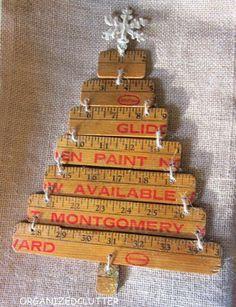 repurposed yardstick christmas tree, Creative Ruler Crafts, http://hative.com/creative-ruler-crafts/,
