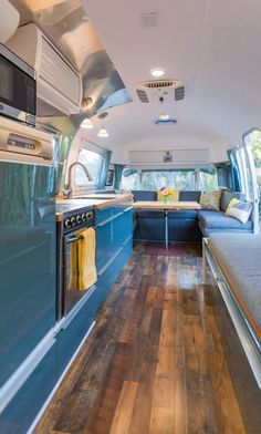Airstream Renovation Vintage Airstream Kitchen Renovation - Love this design.Vintage Airstream Kitchen Renovation - Love this design. Airstream Bambi, Airstream Vintage, Airstream Living, Airstream Campers, Airstream Remodel, Airstream Renovation, Airstream Interior, Trailer Interior, Remodeled Campers