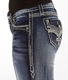 NEW Buckle ROCK REVIVAL Mid Rise Donna Easy Skinny Stretch Jean 31 x 32 #RockRevival #SlimSkinny