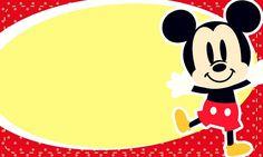 Tarjetas Mickey - Invitaciones Mickey- Marcos para fotos Mickey
