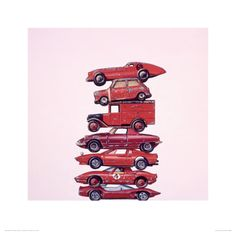 Seven Reds Giclee Print by Jeremy Dickinson at Art.com