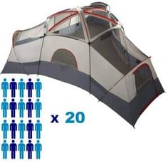 Your leisure time can be used for outdoor activities such as camping and backpacking. Best Tents For Camping, Cool Tents, Camping Gear, Backpacking, 20 Person Tent, Tree Tent, Tent Reviews, Cabin Tent, Ozark Trail