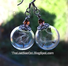 Hey, I found this really awesome Etsy listing at https://www.etsy.com/listing/218496555/dandelion-seed-earrings-wish-earrings