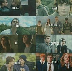 Divergent, Lord Of The Rings, Maze Runner, Narnia, Percy Jackson, Hunger Games, TFIOS, and Harry Potter