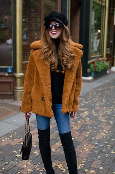 Teddy Bear Coat in Aspen