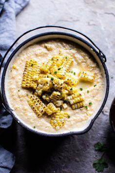 Honey BBQ Chicken and Charred Corn Polenta | halfbakedharvest.com @hbharvest