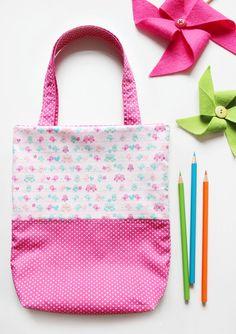 Stoffbeutel - Kinderbeutel | Stoffbeutel Spatzen Pink - ein Designerstück von naehfein-berlin bei DaWanda #kinderbeutel #beutel #pink #spatzen #rosa