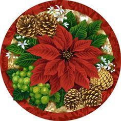 CHRISTMAS POINSETTIA CLIP ART