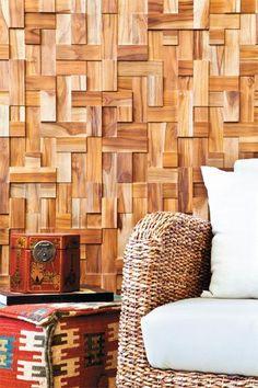 Revestimiento muro madera