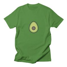 avocado on Men's T-shirt – Who ever heard of too much avocado? Wear your love for this superior fruit, and you will make friends wherever you go.  featuring to [eat] from the Avocado series by Shannon E. Thomas  toicon.com