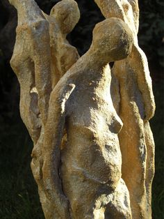 life, cycle, four women representing four life phases,  terra clay sculpture - Elvira Günther