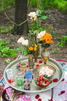 bohemian wedding, or just a typical breakfast