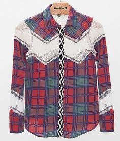 Gimmicks by BKE Plaid Shirt (never in m life would I have picked this out on my own but I'm happy my Buckle gal did)