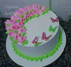Bolo decorado bico 1 m wilton chantilly e borboletas meus cake bolo chantilly russian russiantips bicosrussos bicorusso altavistaventures Image collections