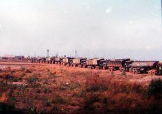 Truck convoy in Vietnam.