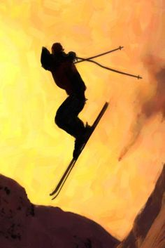 'Flying snowboarder on mountains' by lanjee chee on artflakes.com as poster or art print $20.79