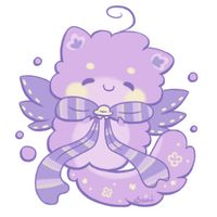 Chubby commissioned by XxEbonySongxX of her super rare kitty Fluffbit: I added some stripes to the bow because it seemed a little too dark and plain. Commission: Chubby for Xxebonysongxx Cute Animal Drawings Kawaii, Kawaii Art, Cute Drawings, Chibi Cat, Cute Chibi, Mythical Creatures Art, Cute Creatures, Anime Animals, Cute Animals