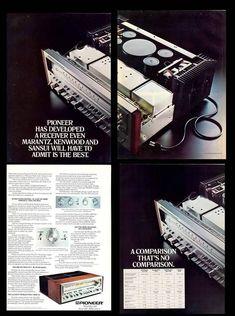 Audio Vintage, Vintage Ads, Hifi Stereo, Hifi Audio, Radios, Pioneer Audio, High End Audio, Audio Equipment, Audiophile