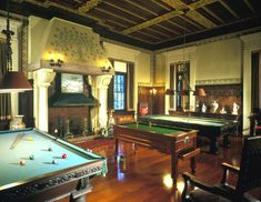 Billiard Room, Henry Morrison Flagler Museum (Palm Beach, Florida)