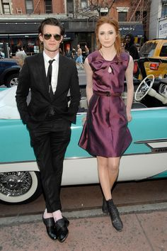 Matt Smith & Karen Gillan. Sharp outfits but you both know you can't run in those clothes.