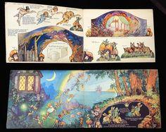 Uncut The Peter Pan Cut-out Book, Dean c 1950 - Partial Play Set Antique Toys, Vintage Antiques, Toy Theatre, Mini Craft, Paper Houses, Paper Toys, Toy Boxes, Mini Books, Peter Pan